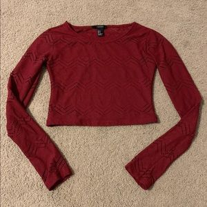 Adorable Forever 21 Long Sleeve Crop Top